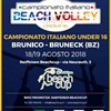 Finale Scudetto Campionato Italiano Beachvolley Under 16 F a Brunico 18-19/08/2018