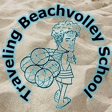 Logo Traveling Beachvolley School